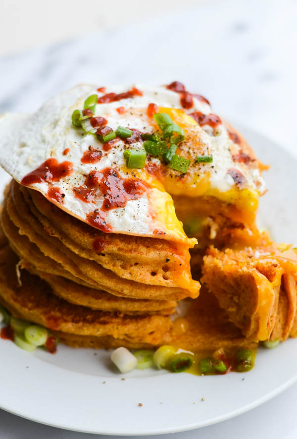Johnnycakes (Cornmeal Pancakes) With Chili Syrup Recipes — Dishmaps