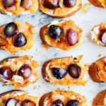 Sweet Potato & Roasted Grape Crostini