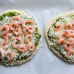 SHRIMP PESTO PIZZAS