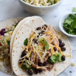 SLOW COOKER PORK TACOS & CORN SLAW