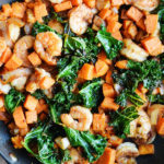 SHRIMP & SPICY KALE SWEET POTATO STIR FRY