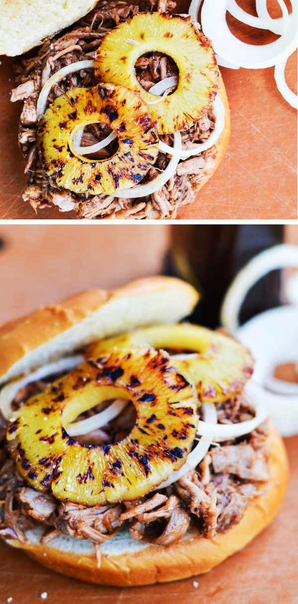 BROWN SUGAR PORK & PINEAPPLE BURGERS
