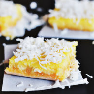 COCONUT LEMON BARS from Rachel Schultz