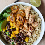 CUBAN CHICKEN & RICE WITH FRIED BANANAS from Rachel Schultz