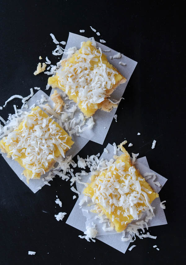GLUTEN FREE COCONUT LEMON BARS from Rachel Schultz