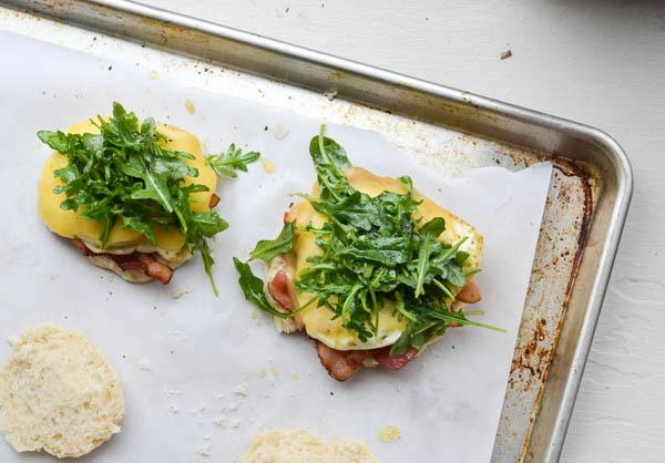 ARUGULA & BACON BREAKFAST SANDWICHES from Rachel Schultz
