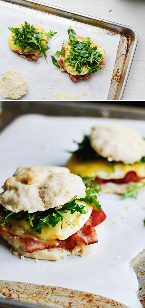 ARUGULA & BACON BREAKFAST SANDWICHES