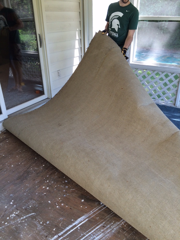 REMOVING CARPET FROM THE SUNROOM from Rachel Schutlz 3