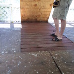REMOVING CARPET FROM A SUNROOM