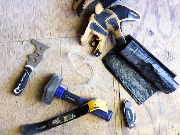TOOLS & EQUIPMENT FOR LAYING WOOD FLOORS from Rachel Schultz