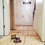 LEVELING THE ENTRYWAY SUBFLOOR