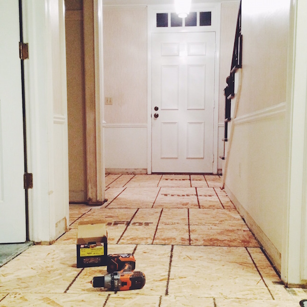 TILE DEMOLITION IN AN ENTRYWAY
