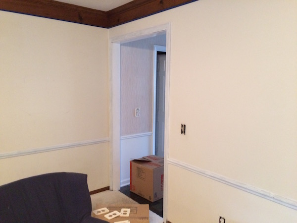 PAINTING THE LIVING ROOM DARK GRAY from Rachel Schultz