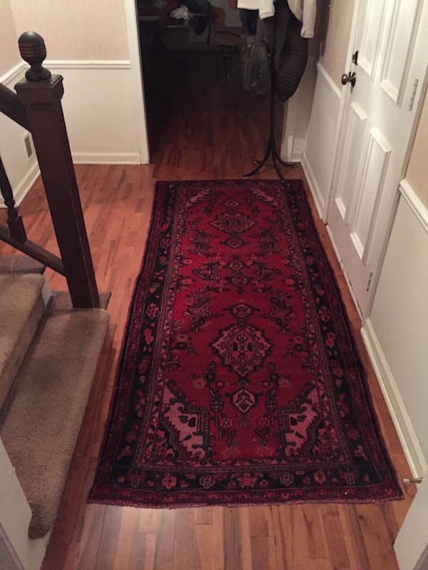 VINTAGE PERSIAN RUNNER FOR THE ENTRYWAY from Rachel Schultz