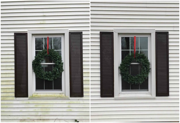 EXTERIOR WINDOW CHRISTMAS WREATHS from Rachel Schultz