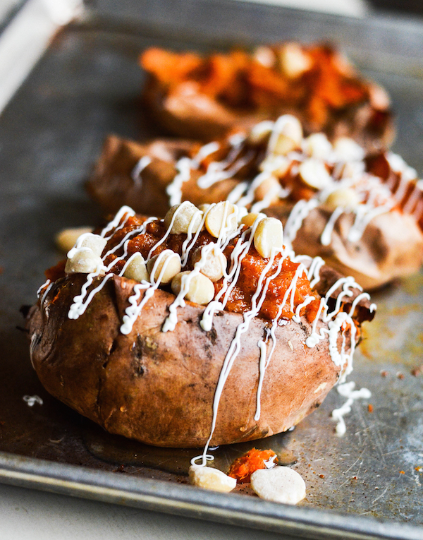 White Chocolate Macadamian Nut Twice Baked Sweet Potatoes copy