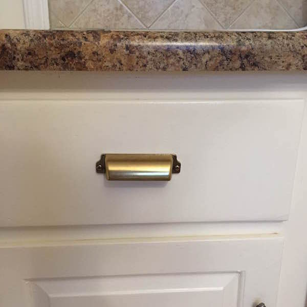 BLACK VS. BRASS KITCHEN CABINET HARDWARE From Rachel Schultz