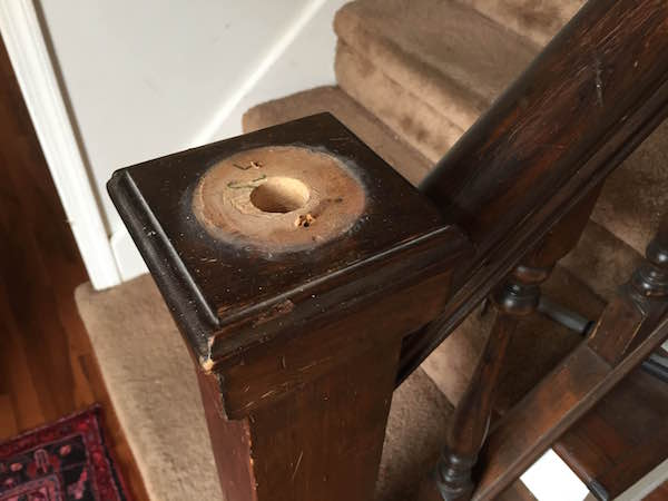 REMOVING THE STAIR FINIAL from Rachel Schultz 5