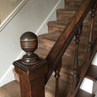 REMOVING THE STAIR FINIAL from Rachel Schultz 8