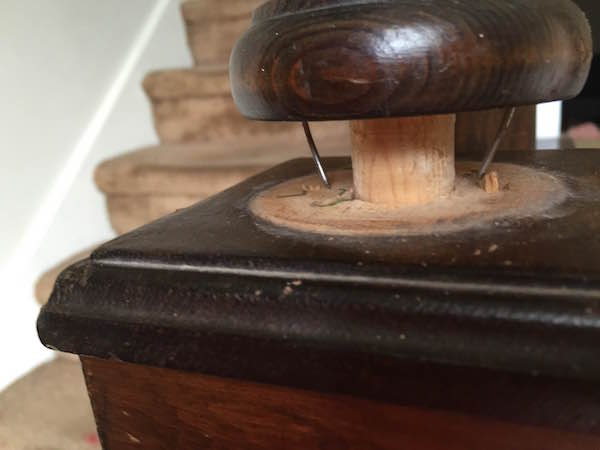 REMOVING THE STAIR FINIAL from Rachel Schultz 9