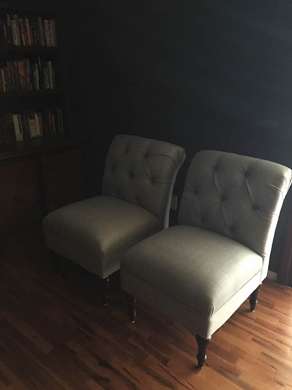 SLIPPER CHAIRS FOR THE LIVING ROOM from Rachel Schultz