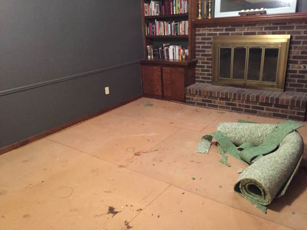 STARTING WOOD FLOORS IN LIVING ROOM from Rachel Schultz
