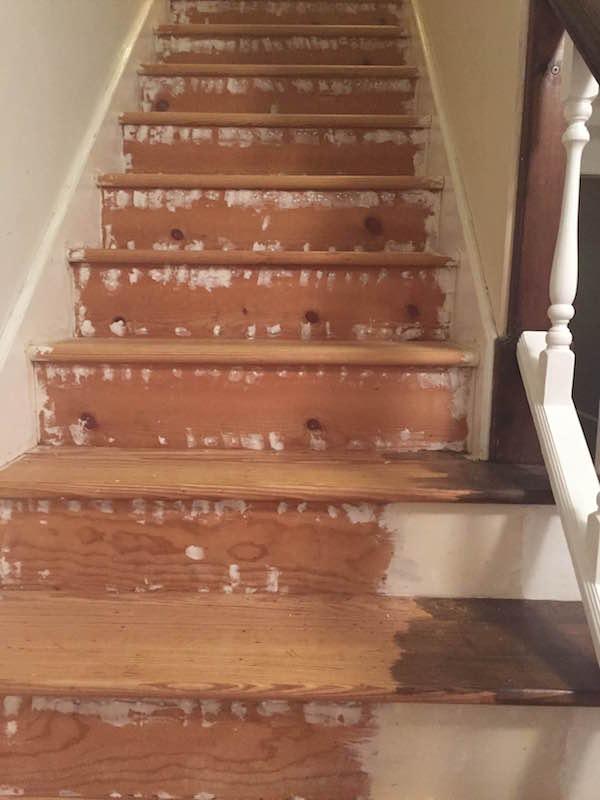 REFURBISHING THE STAIRS PART I from Rachel Schultz