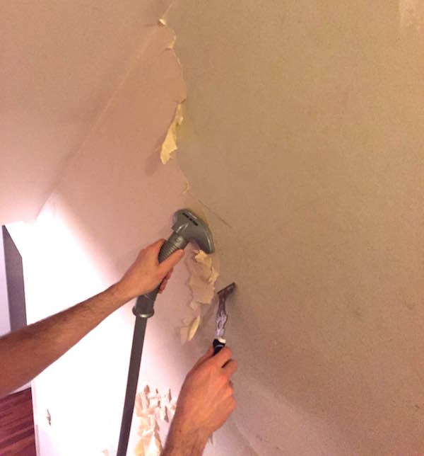 STRIPPING WALLPAPER WITH A CLOTHES STEAMER From Rachel Schultz 8