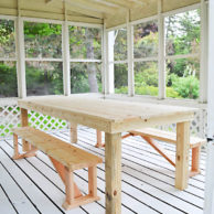 HOW TO BUILD A $75 OUTDOOR DINING TABLE copy