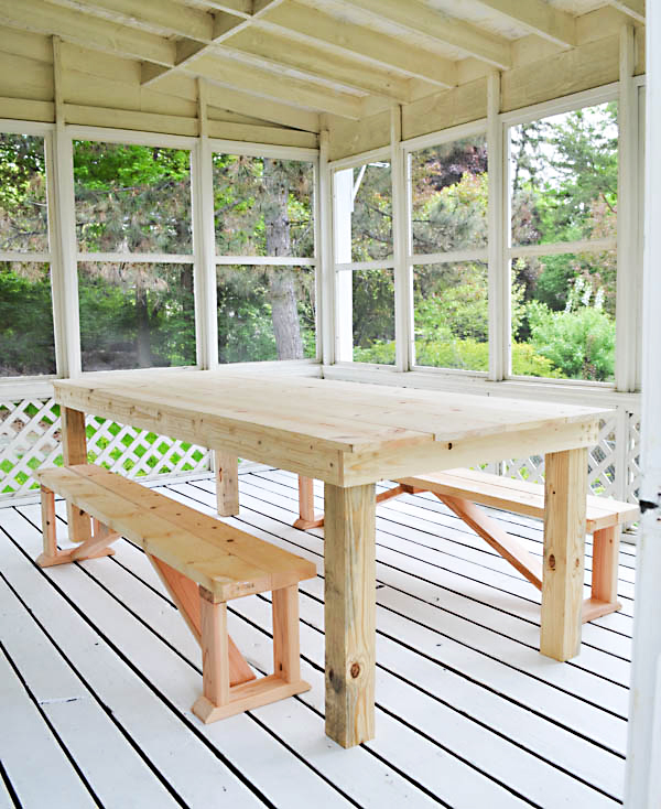 Rachel Schultz How To Build A 75 Outdoor Dining Table