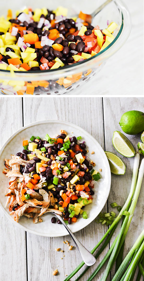 Mango Chicken Black Bean Salad