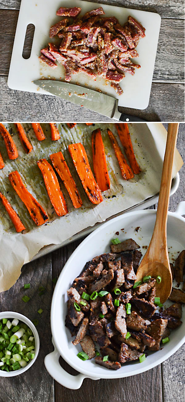 QUICK BEEF BULGOGI & ROASTED CARROTS