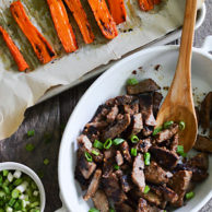 Quick BEEF BULGOGI & ROASTED CARROTS-2 copy