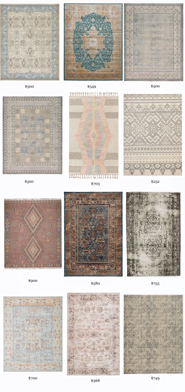 AFFORDABLE, NOT-RED TRADITIONAL RUGS from Rachel Schultz