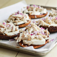 BBQ CHICKEN PIZZA BAGELS from Rachel Schultz 1