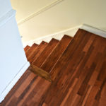 THE FLOOR TRANSITION FOR THE STAIRCASE