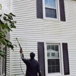 POWER WASHING EXTERIOR SIDING