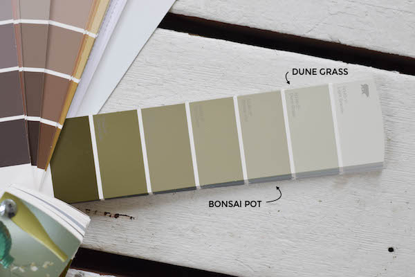 A MUTED OLIVE GREEN FOR THE SUNROOM FLOOR