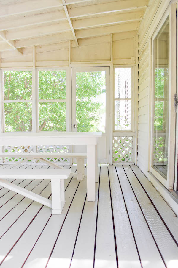 Rachel Schultz A Muted Olive Green For The Sunroom Floor
