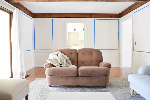 ADDING WALL PANELING IN THE LIVING ROOM-2