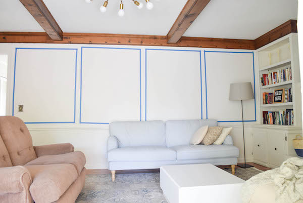 ADDING WALL PANELING IN THE LIVING ROOM-3