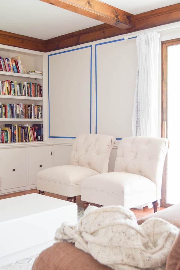 ADDING WALL PANELING IN THE LIVING ROOM