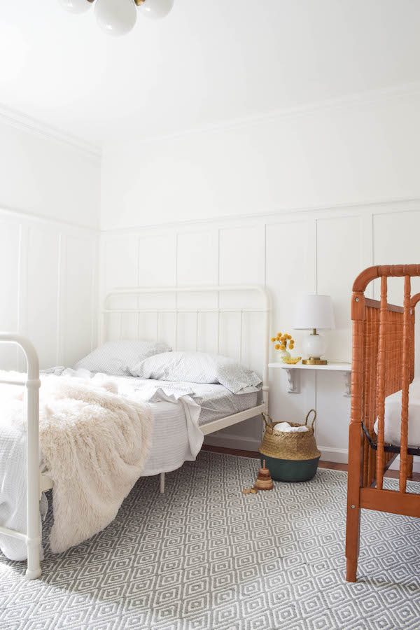 A NEUTRAL, SOPHISTICATED SHARED GUEST BEDROOM AND NURSERY-2