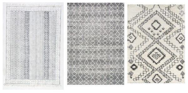 Black & White Tribal Rugs 1