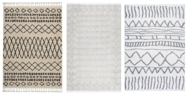 Attractive Rachel Schultz: A TRIBAL, WHITE SHAG RUG TI79