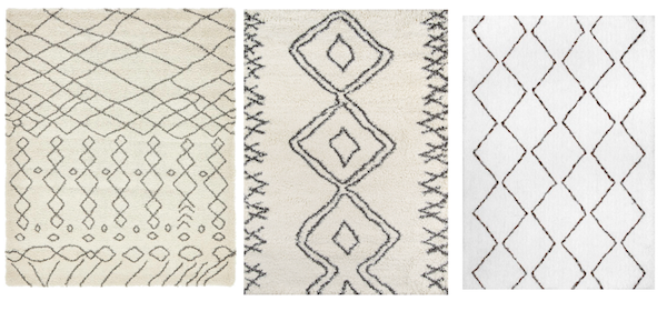 Wonderful Rachel Schultz: A TRIBAL, WHITE SHAG RUG TD66