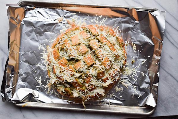 CHICKEN PESTO PIZZA BREAD-3 copy
