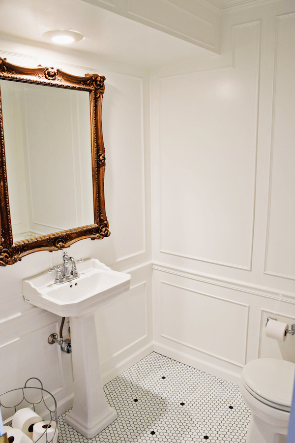 BEFORE AND AFTER POWDER ROOM REVEAL