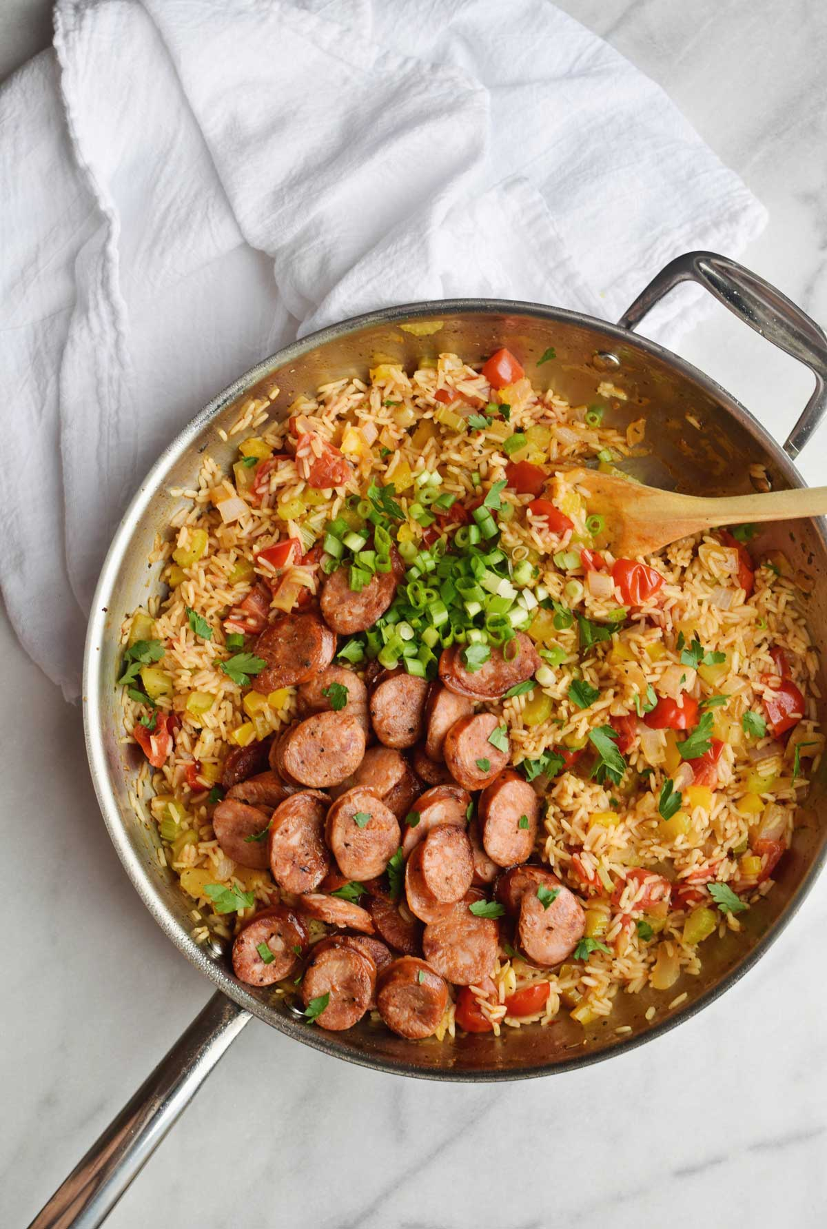 One Pan Jambalaya in Skillet