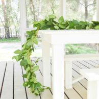 Really Inexpensive Greenery Garland